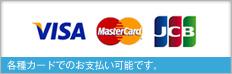 各種カードでお支払可能です。